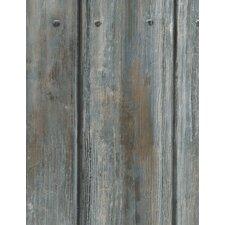 Engineer 10m L x 68cm W Wood Distressed Roll Wallpaper