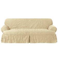 Matelasse Damask Sofa T-Cushion Slipcover