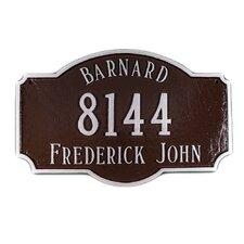 Estate 3-Line Address Plaque