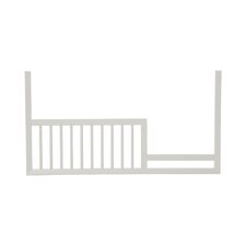 Mid-Century Toddler Rail in French White