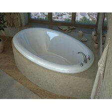 Martinique 78 x 44 Oval Soaking Bathtub with Center Drain by Spa Escapes