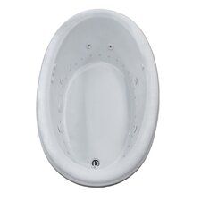 Martinique 60 x 36 Oval Air & Whirlpool Jetted Bathtub with Drain by Spa Escapes