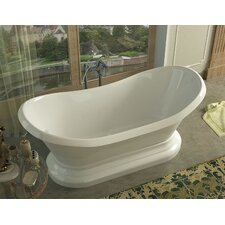 Grace 70.75 x 32.75 Oval Freestanding Soaker Bathtub with Center Drain by Spa Escapes