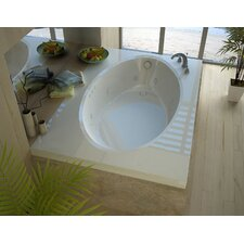Bermuda 59 x 41.5 Rectangular Whirlpool Jetted Bathtub with Drain by Spa Escapes