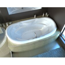 Antigua 70 x 41 Oval Whirlpool Jetted Bathtub with Center Drain by Spa Escapes