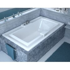 Barbados 78 x 45 Endless Flow Whirlpool Bathtub with Center Drain by Spa Escapes