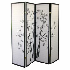 "70"" x 68"" Bamboo Shoji 4 Panel Room Divider"