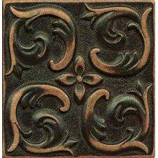 "Ambiance Insert Wave 4"" x 4"" Resin Tile in Venetian Bronze"