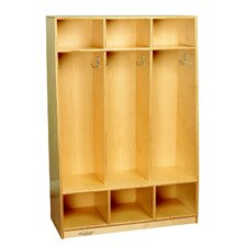 3 Tier 3 Wide Coat Locker