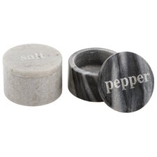4 Piece Marble Salt and Pepper Pinch Set