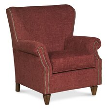 Curved Back Traditional Wingback Chair by Fairfield Chair