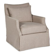 Skirted Pillow Swivel Armchair by Fairfield Chair