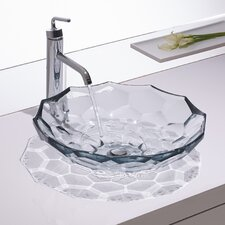 Artist Editions Briolette Circular Vessel Bathroom Sink