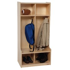 3 Tier 2 Wide Coat Locker