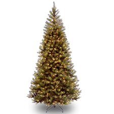 Aspen Spruce 7.5' Hinged Artificial Christmas Tree with 450 Clear Lights