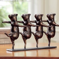 Dancing Pigs on Parade Figurine