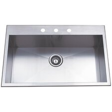 "Uptowne 31.5"" x 20.5"" Self-Rimming Single Bowl Kitchen Sink"