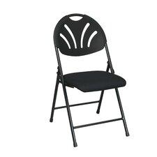 Work Smart Fan Back Folding Chair (Pack of 4)