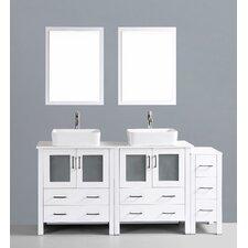 Brigantine 72 Double Bathroom Vanity Set with Mirror by Wade Logan