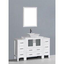 Brigantine 54 Single Bathroom Vanity Set with Mirror by Wade Logan