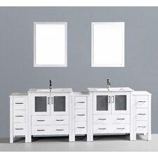 Brigantine 96 Double Bathroom Vanity Set with Mirror by Wade Logan