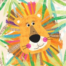 Peeking Jungle Buddies - Lion Canvas Art