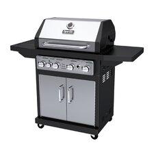 4-Burner Propane Gas Grill with Side Burner