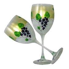 Grapes 'n Vines Wine Glass (Set of 2)