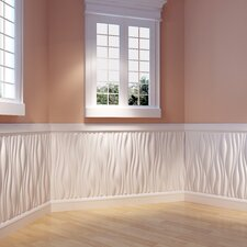 """Branches Paintable 31.4"""" x 24.6"""" Abstract 3D Embossed 6 Piece Panel Wallpaper (Set of 6)"""