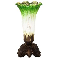 "Cordless Mercury Glass Lily 9.75"" Torchiere Lamp"