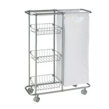Slim Collecting Utility Cart with 3 Shelves