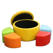 Round Storage Ottoman with Seating by ORE Furniture