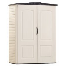 4.33 ft. W x 2 ft. D Plastic Vertical Tool Shed