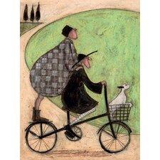 Leinwandbild Double Decker Bike von Sam Toft