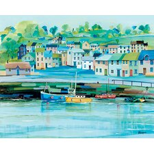 'Harbour Colours' by Jeremy Thompson Framed Wall art on Canvas