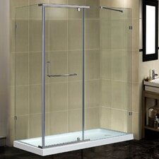 Semi-Frameless 60 x 35 x 77.5 Rectangular Pivot Shower Enclosure with Base by Aston