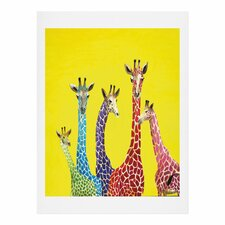 Jellybean Giraffes by Clara Nilles Graphic Art