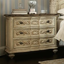 Jessica Mcclintock Boutique 3 Drawer Bachelor's Chest by American Drew