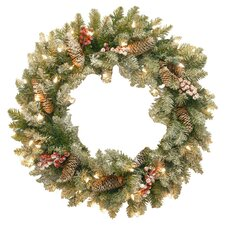 Dunhill Fir Wreath with 50 Clear Lights