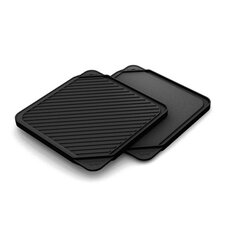 """11"""" Non-Stick Reversible Grill Pan and Griddle"""