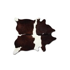 Kobe Hand Woven Chocolate/White Area Rug
