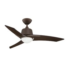 "44"" Scimitar 3-Blade Ceiling Fan with Wall Remote"