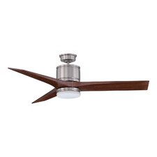 "52"" Woodstock 3-Blade Ceiling Fan with Wall Remote"