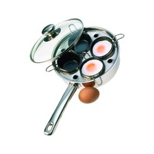 Resto 4 Cup Stainless Steel Egg Poacher Set