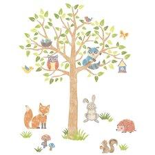Woodland Tree Kids Wall Sticker Kit