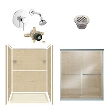 Solid Surface Three Panel Shower Kit