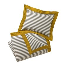 Draper Stripe Ash Duvet Cover
