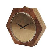 Wooden Hexagon Shaped Clock