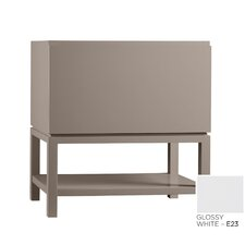 Contempo Jenna Wood Cabinet Vanity Glossy White Base by Ronbow