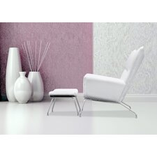 Wing Lounge Chair and Ottoman Set by Fine Mod Imports